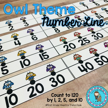 Owl Theme Number Lines