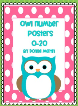 Owl Theme Number Posters 0-20