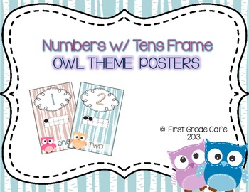 Owl Theme Number Posters
