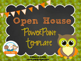 Owl Theme Open House Back-to-School PowerPoint Template {personalize it}