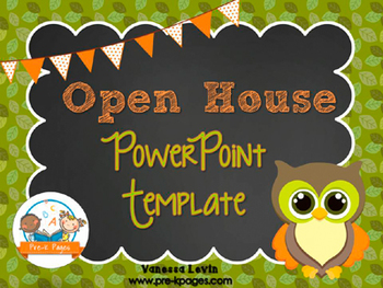 Owl Theme Open House Back-to-School PowerPoint Template {p