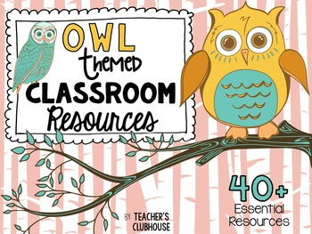 Owl Theme Decor Pack