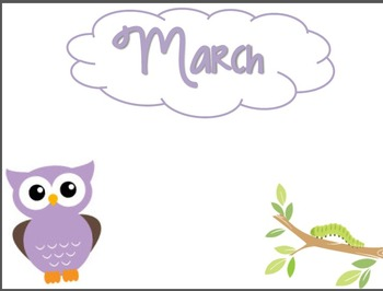 Owl Theme Packet {days of week, specials, numbers, labels, etc}