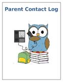 Owl Theme Parent Contact Log