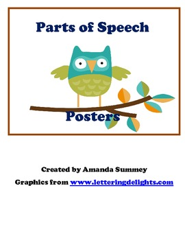 Owl Theme - Parts of Speech - Posters