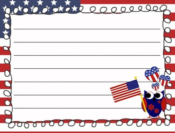 Owl Theme Patriotioc Paper Pack - Presidents' Day Paper