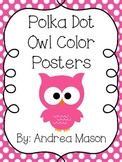 Owl Color Posters