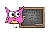Owl Theme Portable Word Wall version 2 with Dolch sight word cards