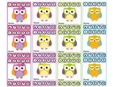 Owl Theme Punch Cards (Behavior Management)