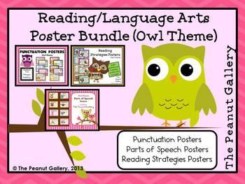 Owl Theme Reading/Language Arts Poster Bundle