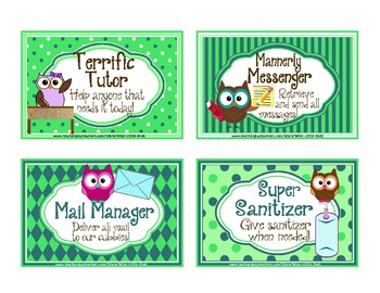 Owl Theme Reward Coupons ~ 16 Rewards that cost NO Money!
