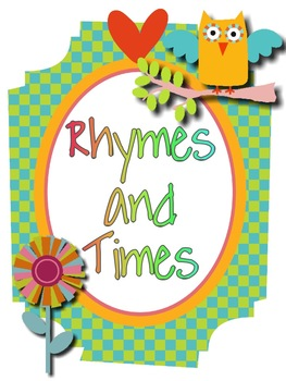 Owl Theme Rhymes and Times Poster Set