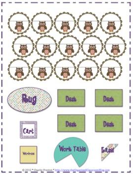 Owl Theme Seating Chart Set