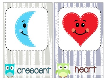 Owl Theme Shape, Color, & Numbers w/ ten frames Colors Poster Pack