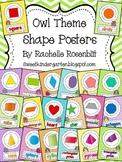 Owl Theme Shape Posters