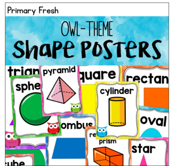 Owl Theme Shape Posters 2D and 3D