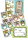 Owl Theme Sight Words Banner with Owl Name Labels and Take Home Certificate