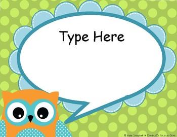Owl Theme {Speech Bubbles}