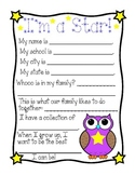 Owl Theme ~ Star Owl of the Week ~ Weekly Letter Writing!