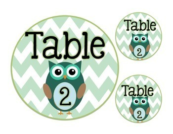 Table & Group Labels: OWL THEME