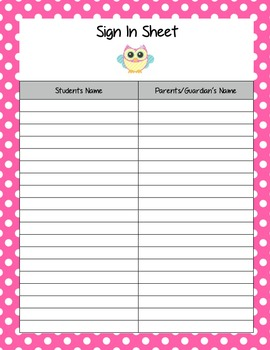 Owl Theme Teacher Binder Covers/Dividers and Beginning of The Year Form