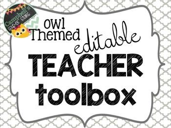 Owl Theme {Teacher Toolbox}