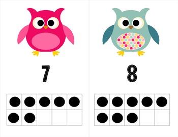 Owl Theme Ten Frames - FREE!
