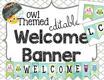 Owl Theme {Welcome Banner}