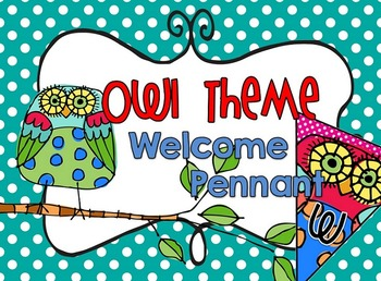 Owl Theme Welcome Pennant for Back to School