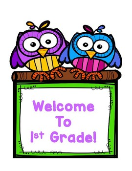 Owl Theme Welcome Poster Signs
