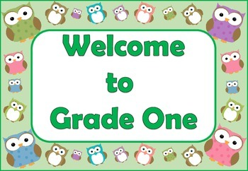 Owl Theme Welcome Posters