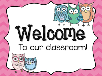 Owl Theme Welcome Signs
