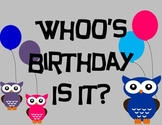 Owl Theme Whoos Birthday? Header
