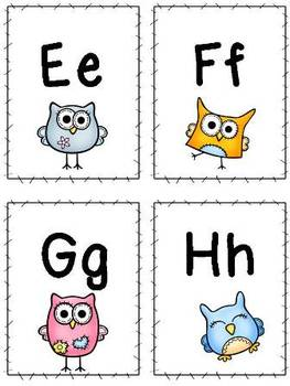 Owl Theme Word Wall