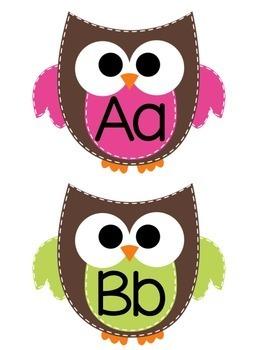 Owl Word Wall Headers
