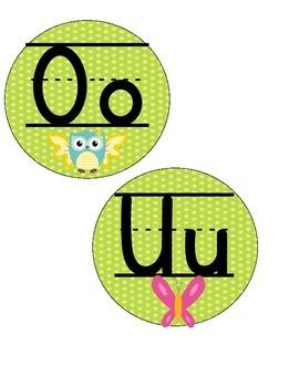 Owl Theme Word Wall - Reading Wonders 1st Grade