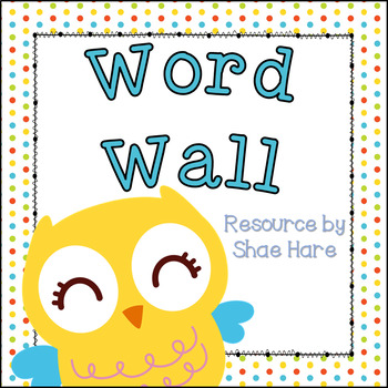 Owl Theme [Word Wall and Headers] Fry and Dolch Sight Words Flash Cards