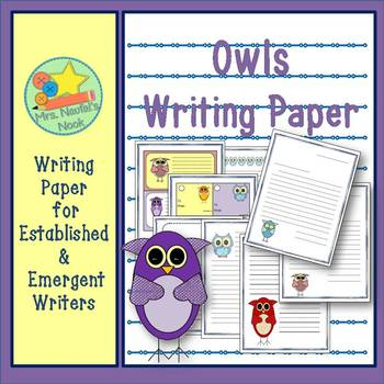 Writing Paper Templates - Owl Theme