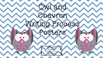 Owl Theme Writing Process Posters