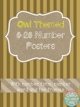 Owl Themed 0-20 Numbers Posters