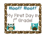 Owl Themed 1st day First Grade