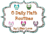 Owl Themed 5 Daily Math Routines