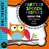 Grammar: Parts of Speech Posters Owl Theme Classroom Decor
