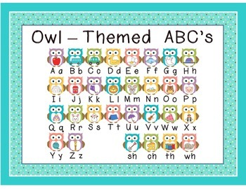 Owl Themed ABC