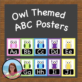 Owl Themed ABC Posters