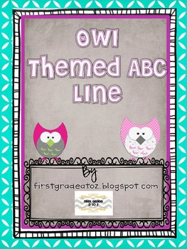 Owl Themed ABC line