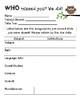 Owl Themed Absent Homework Sheet