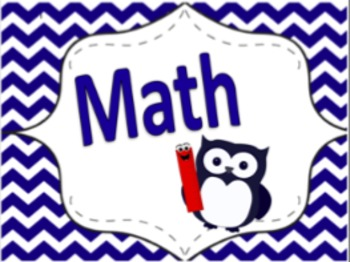 Owl-Themed Academic Signs (Navy Blue/Red)