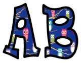 Owl Themed Alphabet Bulletin Board Letters