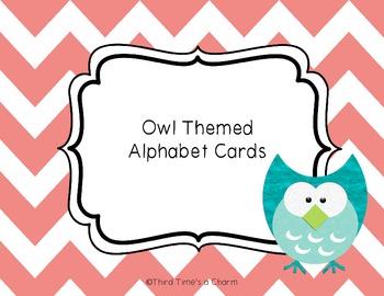 Owl Themed Alphabet Cards for Word Wall